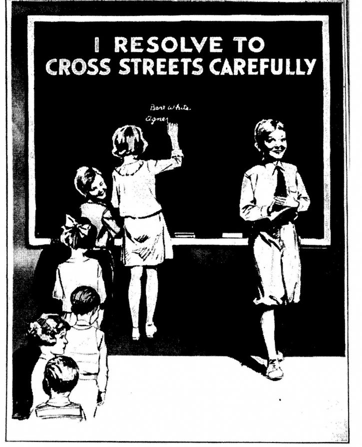 Re-defining responsibility: a Chicago Motor Club safety poster. Sources: Gentles and Betts (1932)
