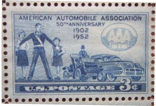 The American Automobile Association 50th anniversary stamp Source: Wikipedia